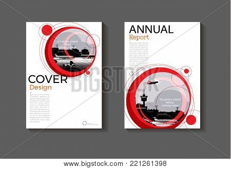 layout abstract red background modern cover design modern book cover Brochure cover  template,annual report, magazine and flyer Vector a4