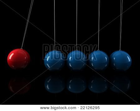 3D Red Blue Pendulum