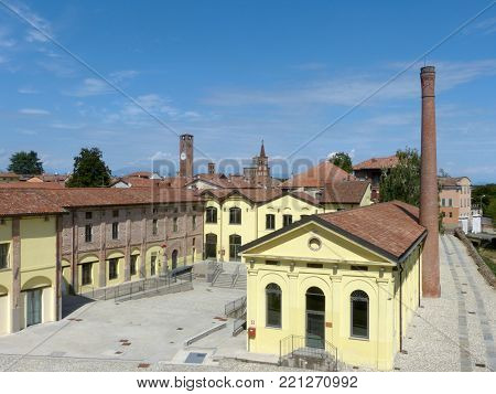 Industrial reconversion in Soncino - An old brick factory converted into a culture factory - Italy
