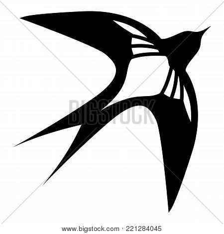 Swallow icon. Simple illustration of swallow vector icon for web