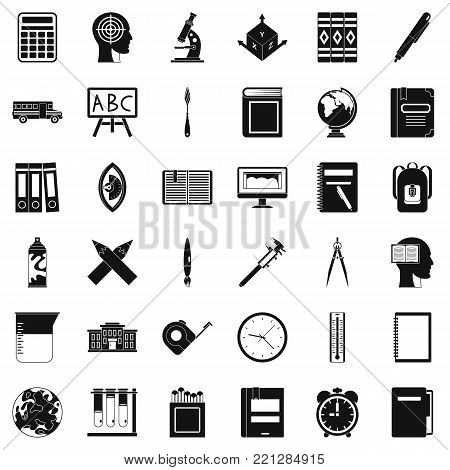 Pupil icons set. Simple style of 36 pupil vector icons for web isolated on white background