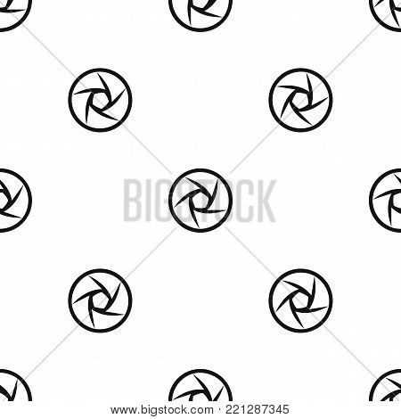 Video objective pattern repeat seamless in black color for any design. Vector geometric illustration