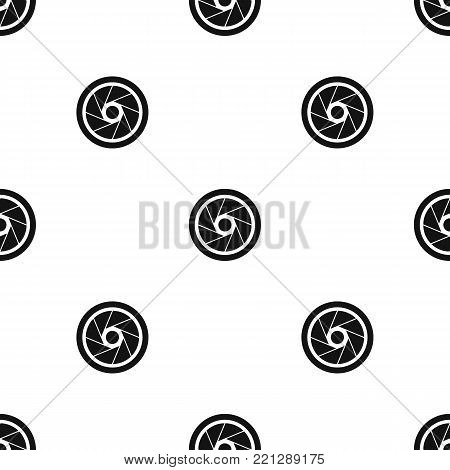 Small objective pattern repeat seamless in black color for any design. Vector geometric illustration