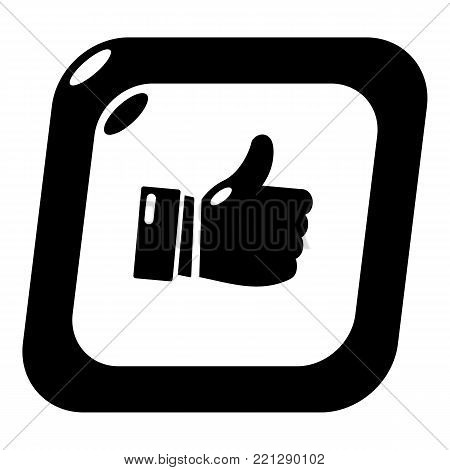 Thumbs up icon. Simple illustration of thumbs up vector icon for web