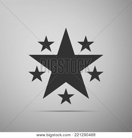 Star icon isolated on grey background. Favorite, Best Rating, Award symbol. Flat design. Vector Illustration