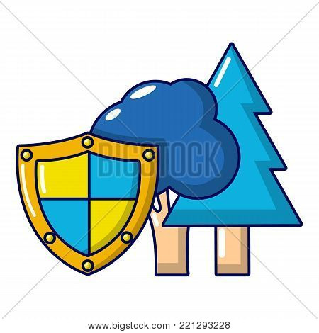 Environment protection icon. Cartoon illustration of environment protection vector icon for web