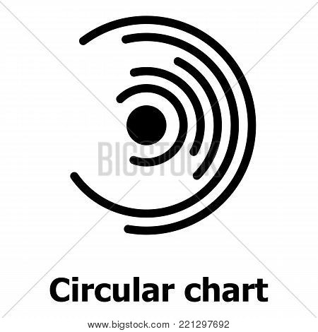 Circular chart icon. Simple illustration of circular chart vector icon for web.