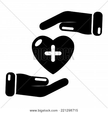 Insurance life icon. Simple illustration of insurance life vector icon for web