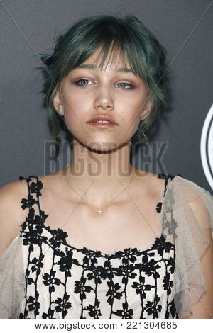 Grace VanderWaal at the Art Of Elysium's 11th Annual Heaven Celebration held at the Barker Hangar in Santa Monica, USA on January 6, 2018.