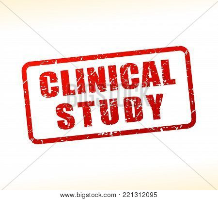Illustration of clinical study text buffered on white background