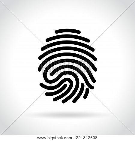 Illustration of finger print icon on white background