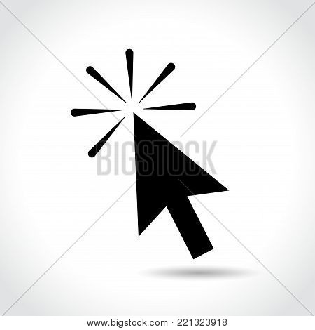 Illustration of clic computer mouse arrow icon