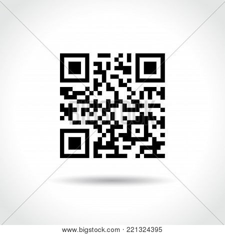 Illustration of qr code on white background