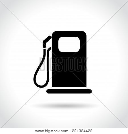 Illustration of fuel icon on white background