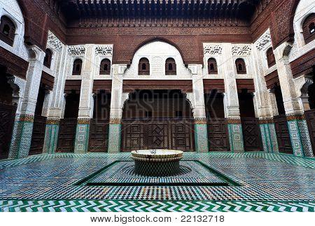 Intricate And Symetrical Interior Of Muslim Madrasah School