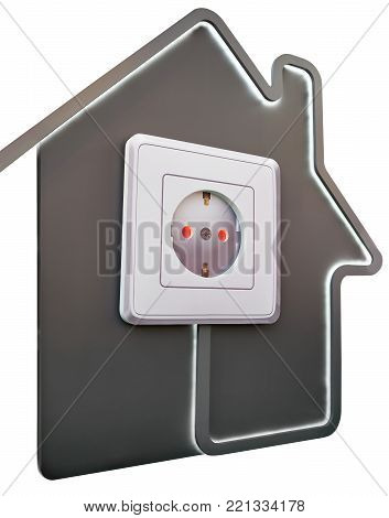 Electrical Outlet In House As Symbol Of Comfort