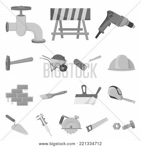 Building and architecture monochrome icons in set collection for design. Construction and Institution vector symbol stock  illustration.