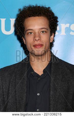 LOS ANGELES - JAN 9:  Damon J Gillespie at the NBC TCA Winter Press Tour at Langham Huntington Hotel on January 9, 2018 in Pasadena, CA