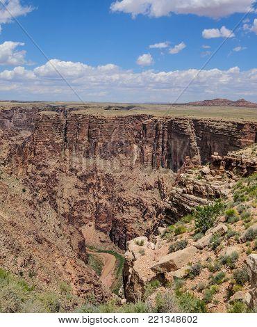 The steep banks of the Glen Canyon, near Page, Arizona.