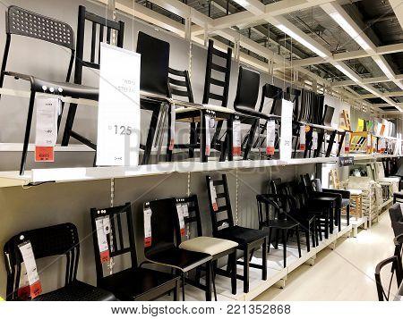 RISHON LE ZION, ISRAEL- DECEMBER 16, 2017: Interior furniture store