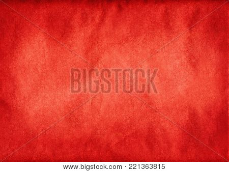 A dirty old red paper background texture