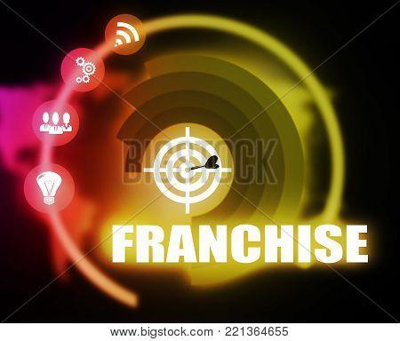 Franchise connect concept plan graphic background color