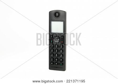 modern cordless dect phone isolated on white background