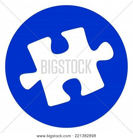 Illustration of jigsaw puzzle piece icon concept