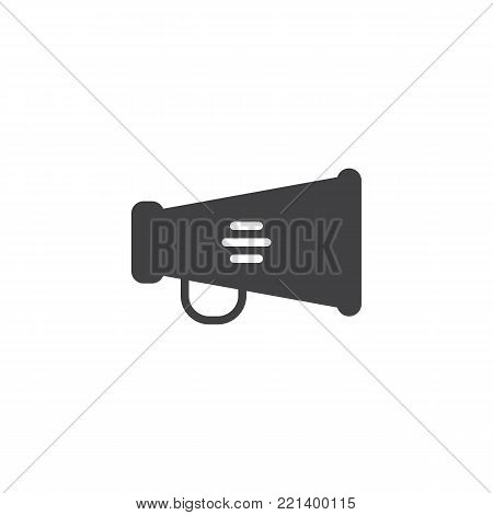 Megaphone icon vector, filled flat sign, solid pictogram isolated on white. Bullhorn, announcement symbol, logo illustration.