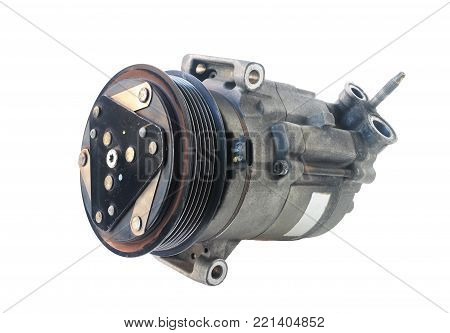 Car Air Compressor isolated on white background Clipping paths