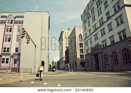 Girl Walking Streets Of Charleston
