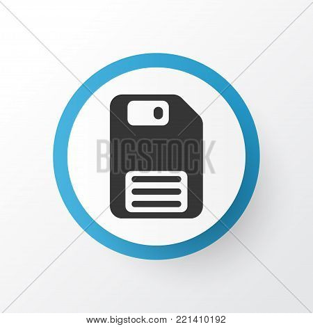 Floppy disk icon symbol. Premium quality isolated diskette element in trendy style.