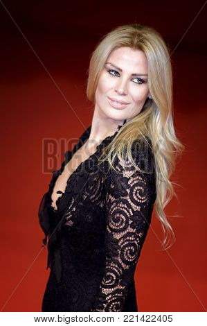 ROME, ITALY - OCTOBER 26: Dana Ferrara walks a red carpet for Hostiles during the 12th Rome Film Fest at Auditorium Parco Della Musica.