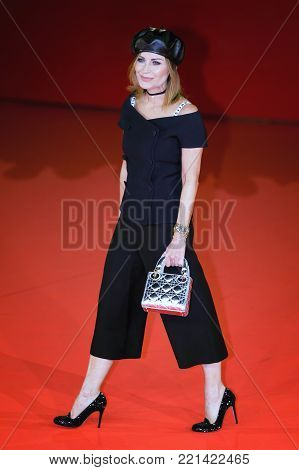 ROME, ITALY - OCTOBER 26: Chantal Sciuto walks a red carpet for Hostiles during the 12th Rome Film Fest at Auditorium Parco Della Musica.