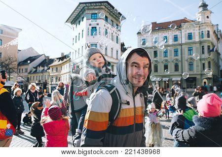 People Celebrate - Pust - In Slovenian Means Shrovetide Carnival.