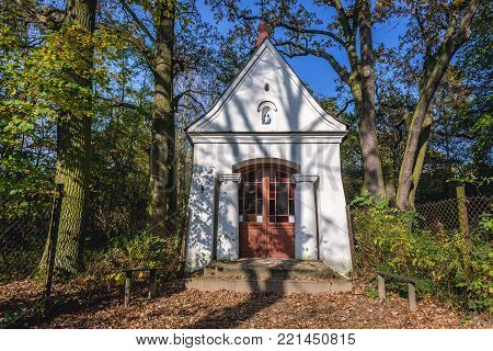 Small chapel in Granica village in Kampinos Forest, Poland