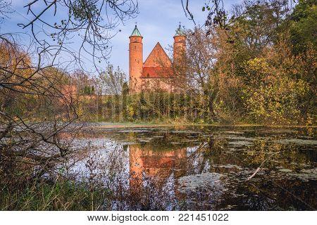 St John the Baptist church in Brochow village, Poland
