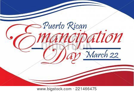 Puerto Rican Emancipation Day Postcard Banner Template