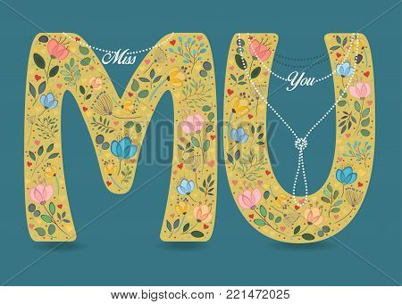 Miss You Yellow Vector Photo Free Trial Bigstock