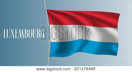 Luxembourg waving flag vector illustration. Stripes elements as a national Luxembourg symbol