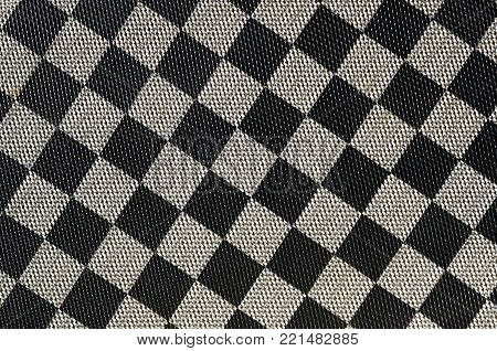 Plastic Texture In The Form Of A Very Small Cloth Binding, Painted In Black And Gray In The Style Of