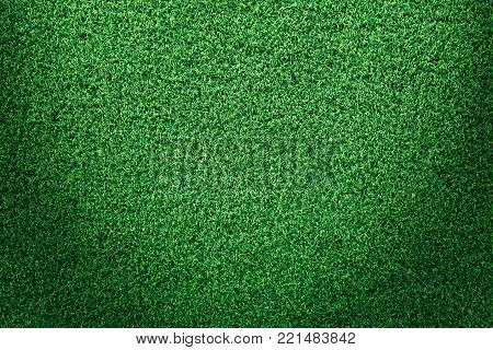 Green grass texture or green grass background for golf course. soccer field or sports background concept design. Artificial green grass.
