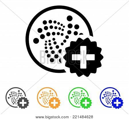 Create Iota icon. Vector illustration style is a flat iconic create iota black symbol with gray, yellow, green, blue color versions. Designed for web and software interfaces.