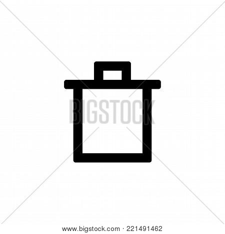 Trash can icon for simple flat style ui design.