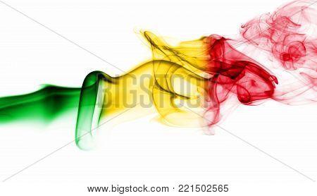 Mali smoke flag isolated on a white background