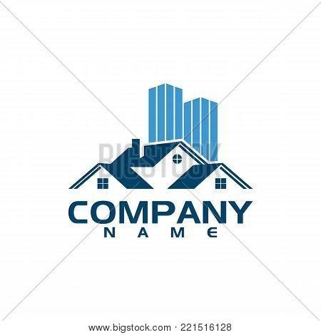 Village House Logo Real Estate logo vector, Cottage Farm Logotype concept icon
