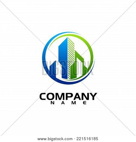 Business abstract logo symbol. vector logo concept illustration. Abstract vector logo. Vertical shapes sign abstract logo. Vector logo template. Design element chart with the arrow up logo. Business finance design concept template
