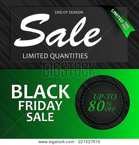 Clear vector illustration. Elaborated for shop owners, sales managers or marketing departments to provide key information to potential customers about Black Friday sales.