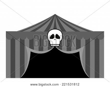 Theme park tent on a white background, Vector illustration