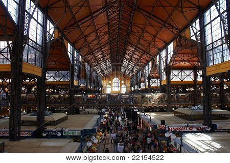 An old market hall in Budapest